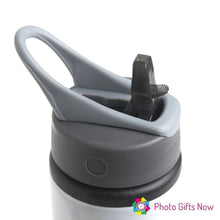 Load image into Gallery viewer, Personalised Metal 625 ml || Flip Top Water Bottle || BPA free || Minnie Bow