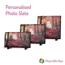 Load image into Gallery viewer, Photo Printed Rock Slate Display with Stand.