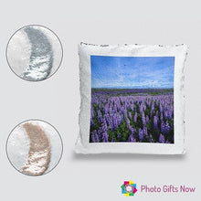 Load image into Gallery viewer, Personalised Sequin Cushion || Magic Reveal || Own Photo || Design || Logo
