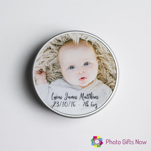 Personalised Memory Box || Keepsake Tin  || Your Image || Design