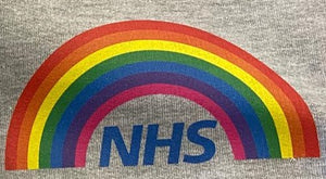 RAINBOW Hoodie || Adults || Black OR Grey || Unisex || NHS || Can be personalised