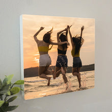 Load image into Gallery viewer, Personalised Square Photo Block || Own Photo || Gift Idea || Wall Picture || Free Standing