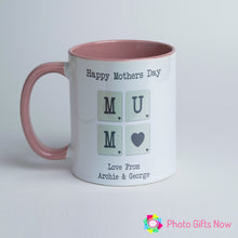 Load image into Gallery viewer, Mother's Day || Personalised Pink Handle Mug