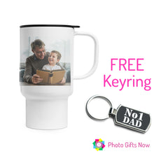 Load image into Gallery viewer, FATHER'S DAY || 14oz Travel Mug with FREE keyring