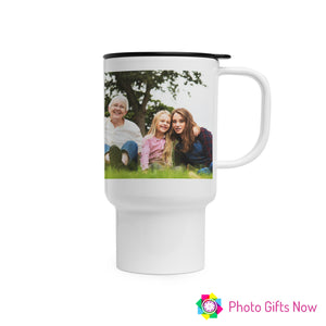 Personalised 14oz Travel Mug Custom Tea/Coffee Cup GIFT || Own Image || Custom Design |