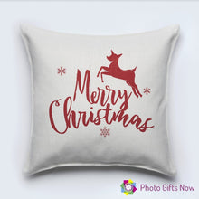 Load image into Gallery viewer, Christmas Luxury Soft Linen Cushion || With Or Without Insert.