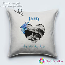 Load image into Gallery viewer, Linen Cushion || Scan Picture || Mother's Day ||