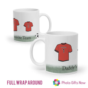 Personalised Mug || Family Football Shirt || Fathers Day