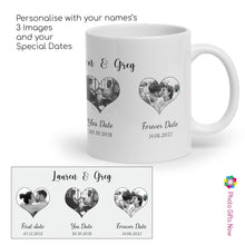 Load image into Gallery viewer, Personalised Valentines Day Mugs | For Her | 11oz Mug Custom Tea/Coffee Cup Your Image Design Gift Present