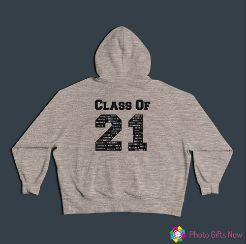 Personalised Leavers Hoodie || Class Of 21 || Grey or Black || Unisex || Adults/Kids ||