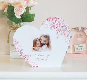 Personalised Heart Photo Block || Own Photo || Design || Text || Gift Idea