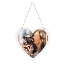 Load image into Gallery viewer, Personalised Photo Hanging Sign || Own Image || Heart Shaped || Gift Idea || Home Decor.