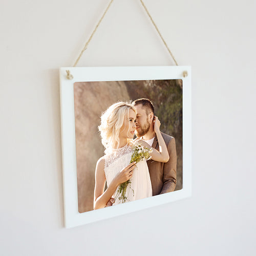 Personalised Photo Hanging Sign || Own Image || Square Sign || Gift Idea || Home Decor.