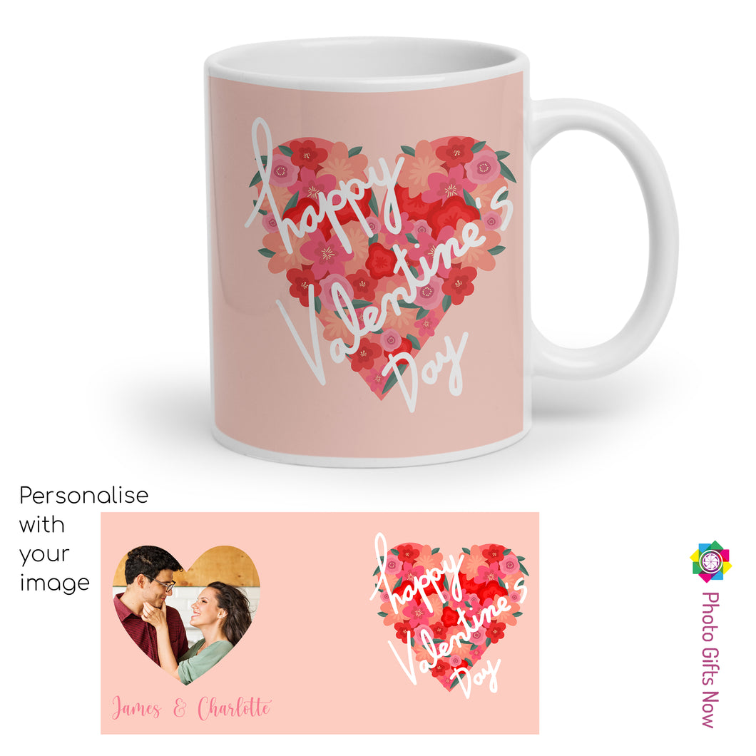 Personalised Valentines Day Mugs | For Her | 11oz Mug | Your Image Design Gift Present|