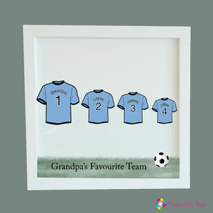 Personalised Square Photo Block || Family Football Shirt