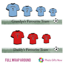 Load image into Gallery viewer, Personalised Mug || Family Football Shirt || Fathers Day