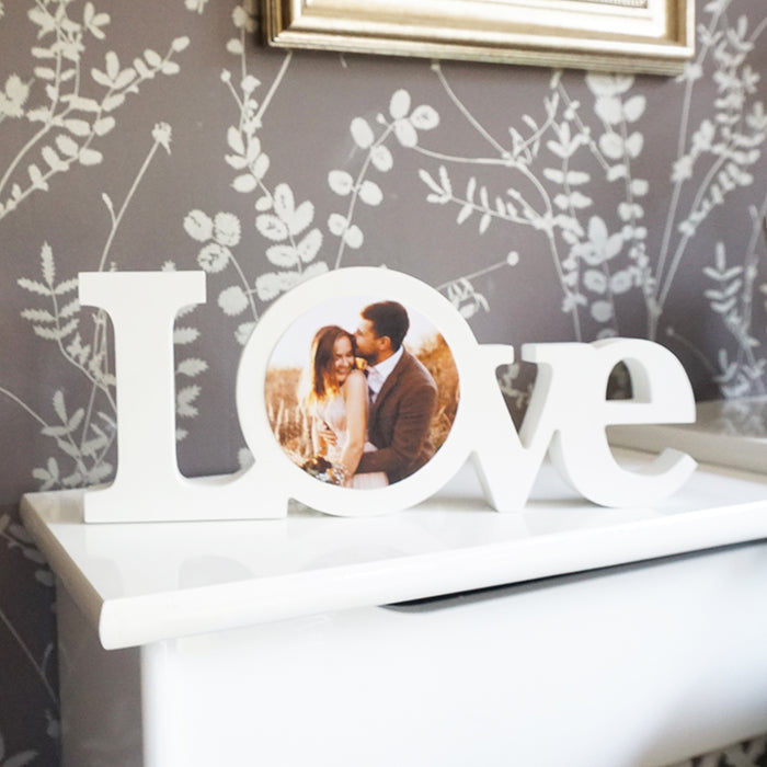 Personalised LOVE Photo Block || Own Photo || Gift Idea || Wedding || Anniversary