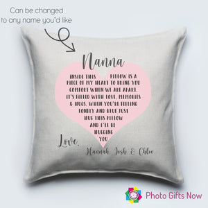 Mothers Day || Personalised Luxury Soft Linen Cushion