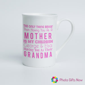 Mothers Day || Personalised 10oz Fine Bone China Mug