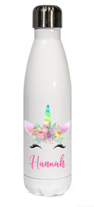 Personalised Stainless Steel 500ml || Bowling Water Bottle ||  Spring Unicorn || Chilly Design