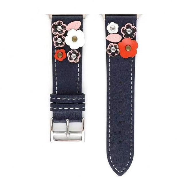 Afterwork Leather Flower Band