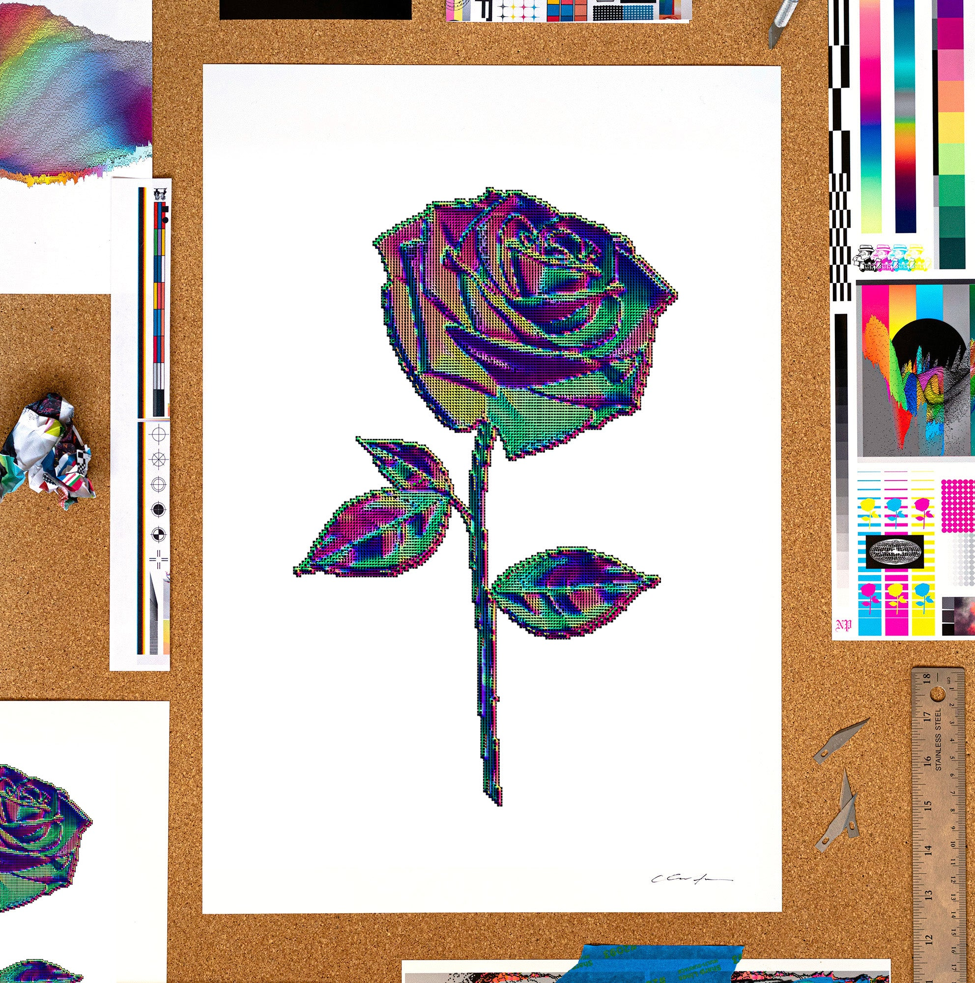 'FLOWER 1' (Signed Print Edition) — $88 / $155