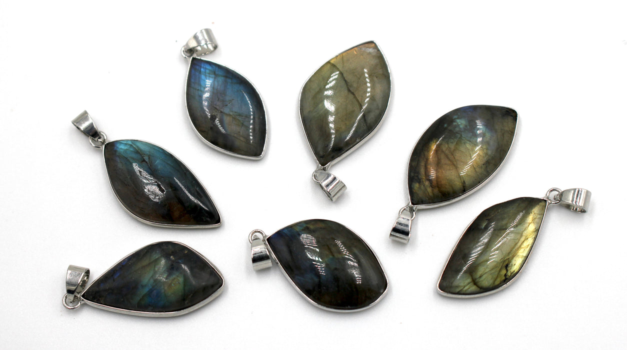 labradorite irregular slab pendant, slab pendant, 20-25mm x 35mm, sold as 1 piece, labradorite pendants, smooth pendant,
