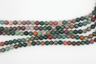 8mm fancy jasper, glossy, 1 strand, 16 inches, approx. 48 beads.