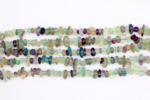 rainbow flourite chip beads, natural gemstone chip beads, 5x8mm, chip beads, flourite gemstone, irregular pebble nugget chips beads