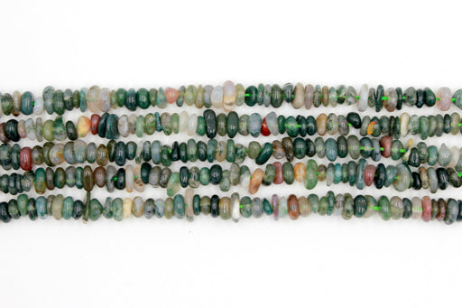 moss agate gemstone chip beads