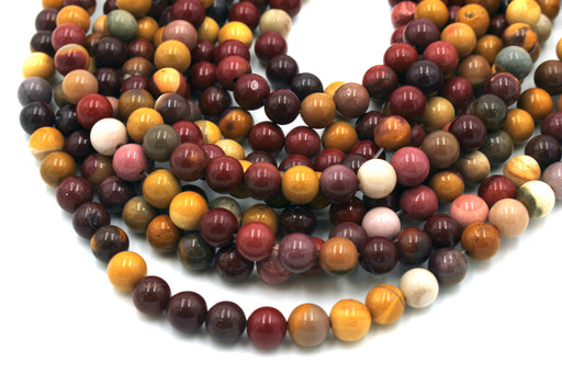 Mookaite Gemstone Beads, 6mm, Round