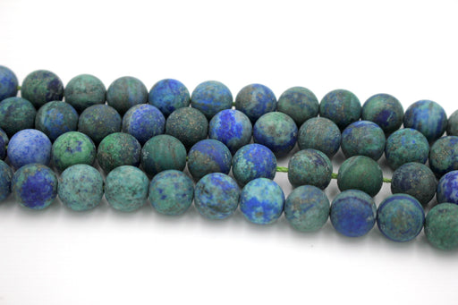 10mm azurite beads, round, matte beads, 1 strand, 16 inches, approx. 40 beads, matte gemstone beads