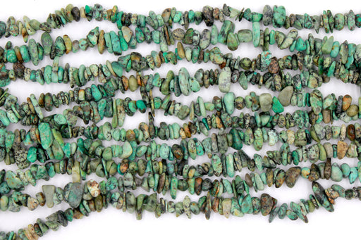 african turquoise chip beads