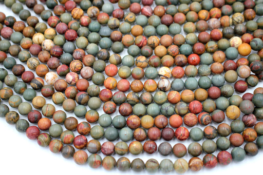 Red Creek Gemstone Beads, 8mm, Round
