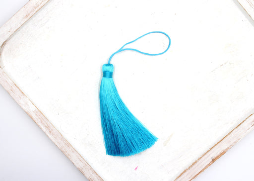 blue silk tassel