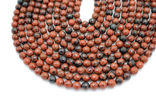 Mahogany Obsidian Gemstone Beads, 8mm, Faceted