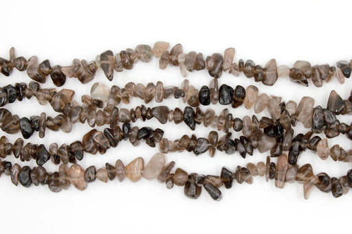 smoky quartz chip beads, natural gemstone chip beads, 5x8mm, chip beads, quartz gemstone, smoky quartz, irregular pebble nugget chips beads