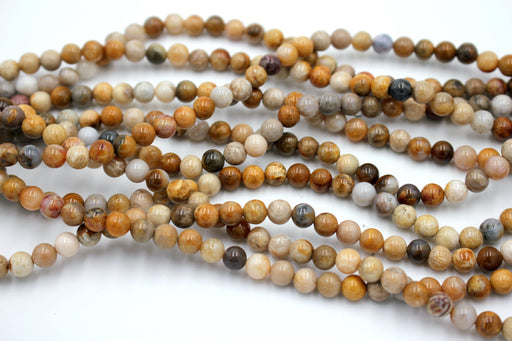 Crazy Lace Agate Gemstone Beads, 6mm, Round
