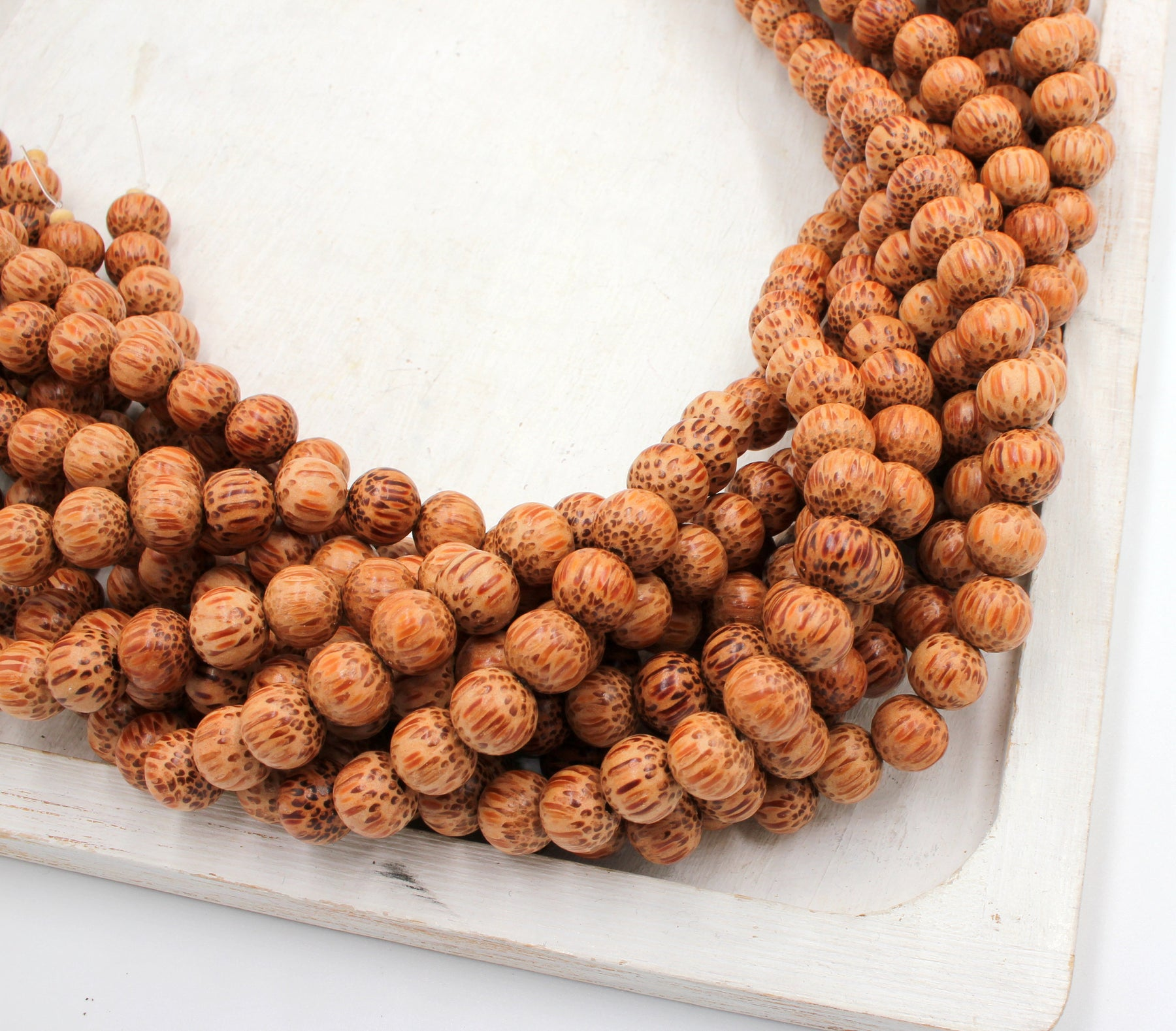 10mm palmwood beads, natural palmwood, beading supplies, jewelry supplies, essential oil beads, wood beads, diffuser beads,