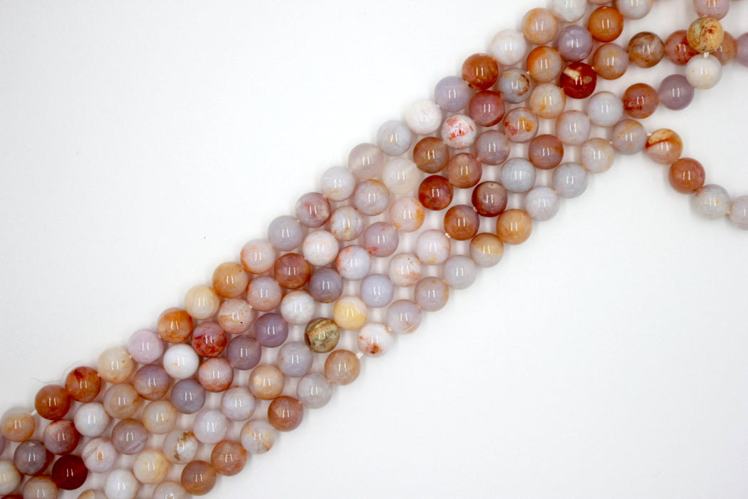8mm Australian Agate, glossy, 1 strand, 16 inches, approx. 48 beads.