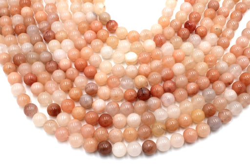 pink aventurine beads 8mm natural aventurine gemstone beads, aventurine rounds, round beads, gemstone beads, 8mm round beads,