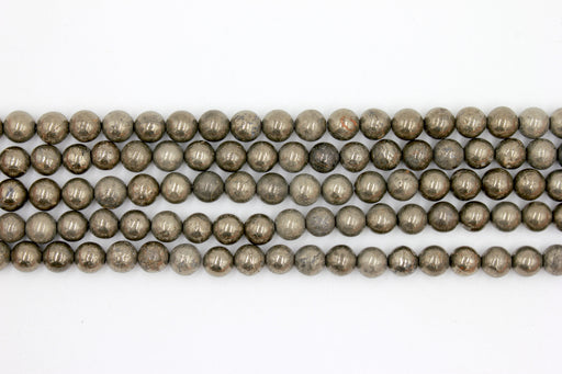 8mm pyrite gemstone beads