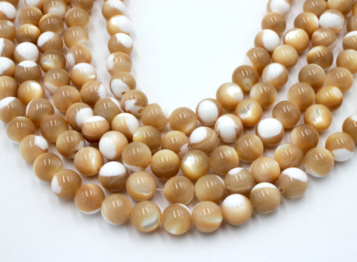8mm natural mother of pearl, mother of pearl gemstone beads, MOP beads, wholesale gemstones, natural gemstones,