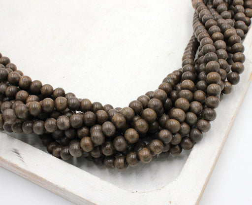 6mm graywood beads