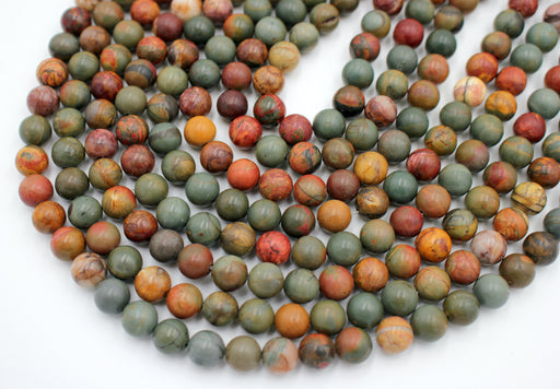Red Creek Gemstone Beads, 6mm, Round