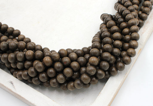 8mm graywood beads