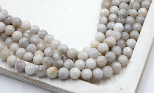 8mm white crazy lace agate
