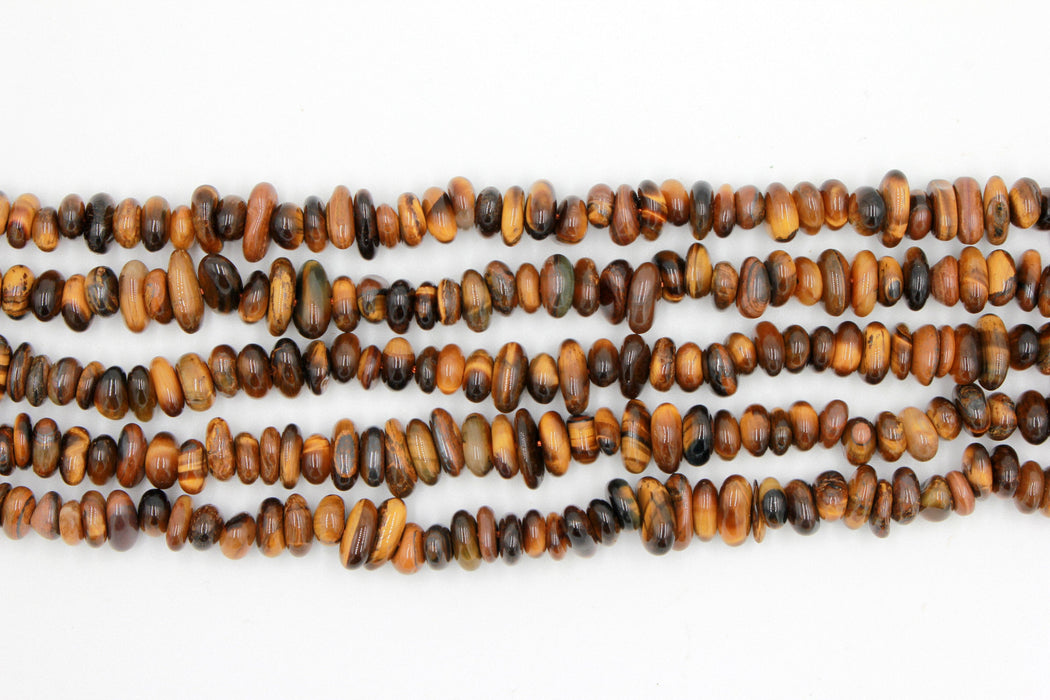 yellow tiger eye chip beads, natural gemstone chip beads, 4x8mm, chip beads, tiger eye, tiger eye chips, irregular pebble nugget chips beads