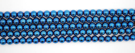 8mm blue hematite gemstone beads
