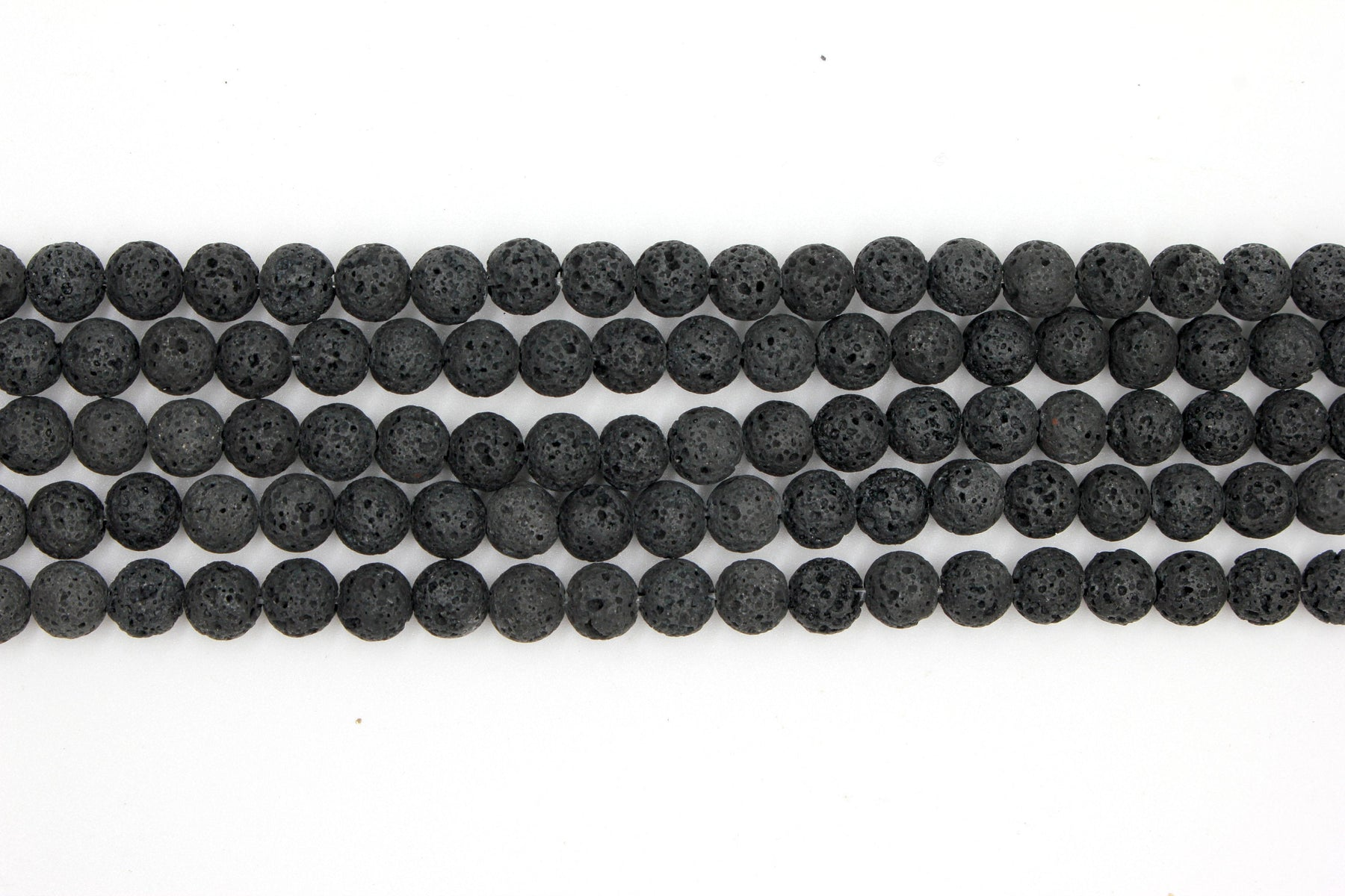 8mm unwaxed lava beads